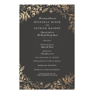 Harvest Flowers Wedding Program