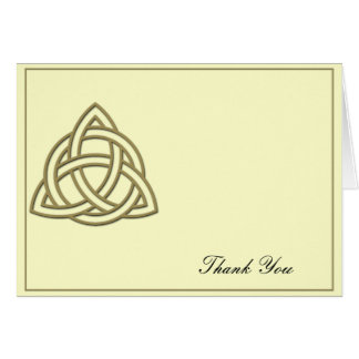 Harvest Gold Celtic Knot Thank You Card
