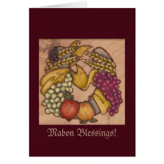 Harvest Horseshoe Mabon Harvest Home Card