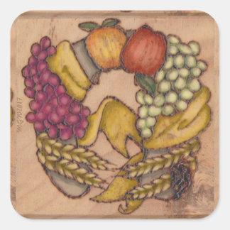 Harvest Horseshoe Mabon Harvest Home Square Sticker