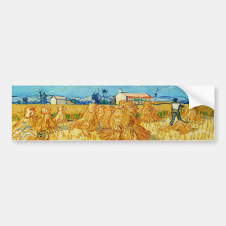 Harvest in Provence by Vincent Van Gogh Bumper Sticker