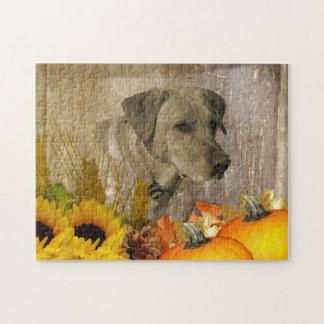 Harvest Labrador Retriever Jigsaw Puzzle