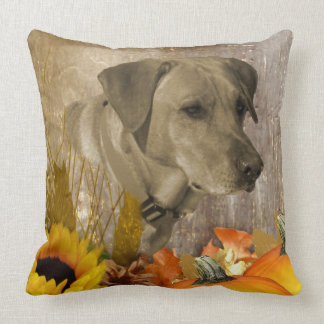 Harvest Labrador Retriever Throw Pillow