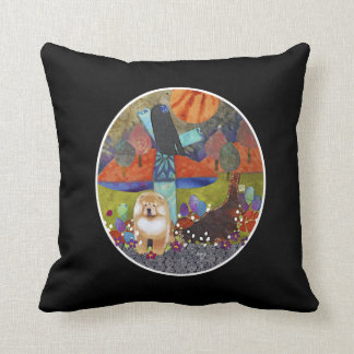 HARVEST MOONDANCE chow Throw Pillow