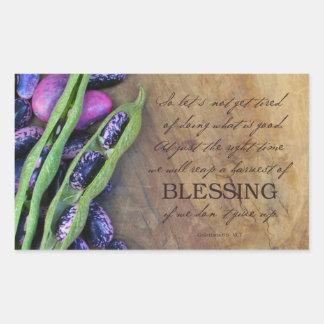 """Harvest Of Blessing Sticker 4.5x2.7"""""""