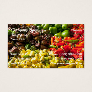 Harvest of Chilies Business Card