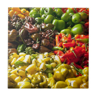 Harvest of Chilies Tile