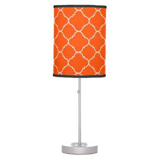 Harvest Orange Quatrefoil Table Lamp