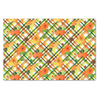 Harvest Plaid Tissue Paper