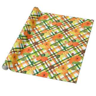 Harvest Plaid Wrapping Paper