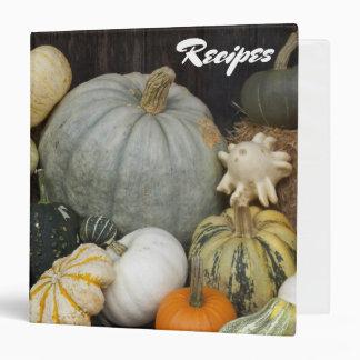 Harvest Pumpkins Photo Recipe 3 Ring Binders