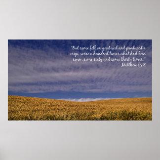 Harvest Scripture Inspirational Poster
