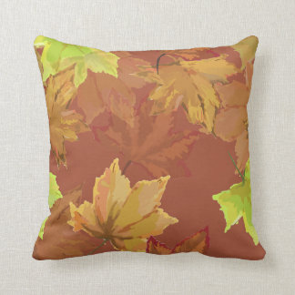Harvest Series Autumn Leaves Throw Pillow