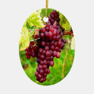 harvest success grape ceramic ornament
