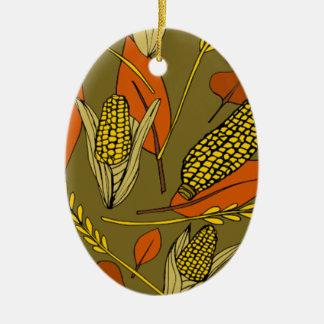harvest time ceramic oval ornament