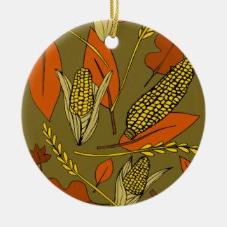 harvest time round ceramic ornament