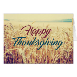 Harvest Wheat Field Thanksgiving Greeting Card