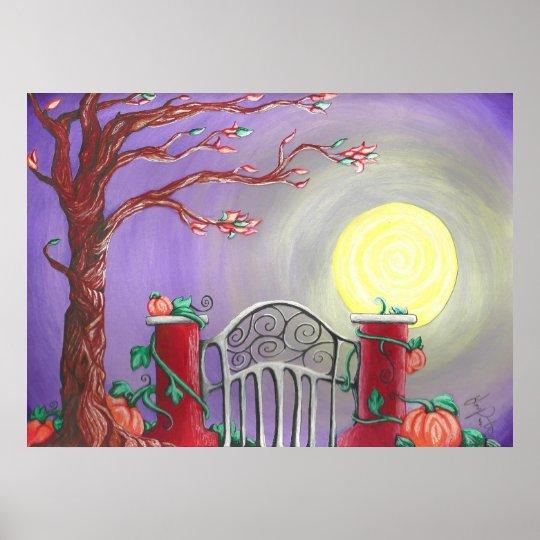 Harvesting Moon Poster