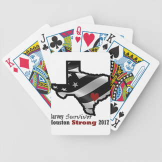 Harvey Design bk wht rd Bicycle Playing Cards