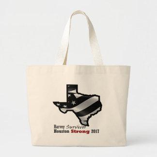 Harvey Design bk wht rd.gif Large Tote Bag