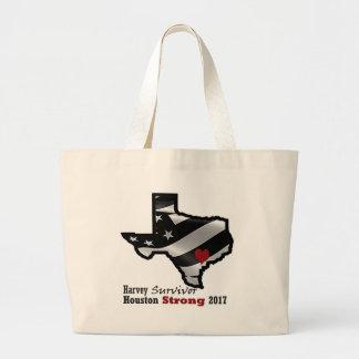 Harvey Design bk wht rd Large Tote Bag