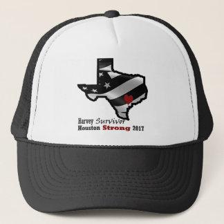 Harvey Design bk wht rd Trucker Hat