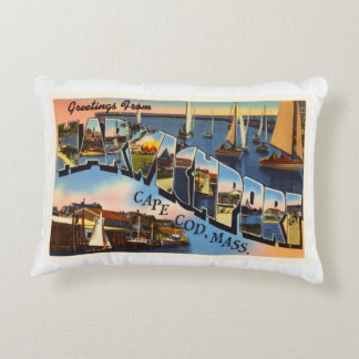 Harwichport Cape Cod Massachusetts MA Old Travel Accent Pillow