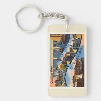 Harwichport Cape Cod Massachusetts MA Old Travel Double-Sided Rectangular Acrylic Keychain
