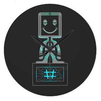 Hash Tag Super hero Large Clock