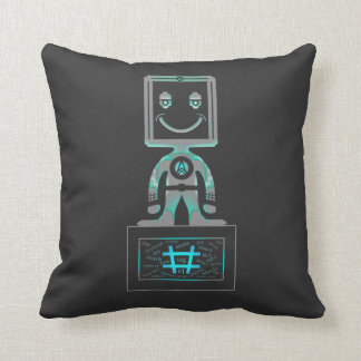 Hash Tag Super hero Throw Pillow