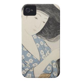 Hashiguchi Goyo - Woman in Blue Combing Her Hair Case-Mate iPhone 4 Case
