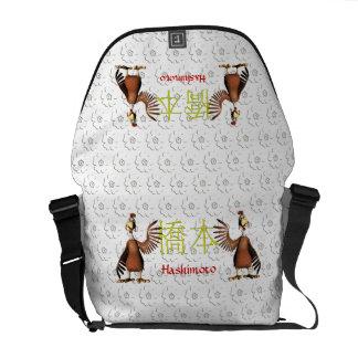 Hashimoto Monogram Rooster Messenger Bag