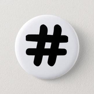 Hashtag 2 Inch Round Button
