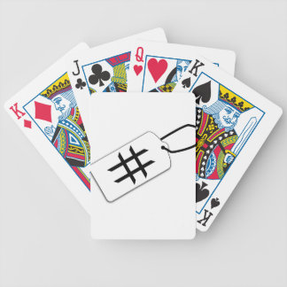 Hashtag Bicycle Playing Cards