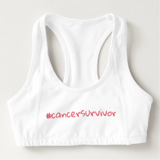 Hashtag Cancer Survivor Women's Alo Sports Bra