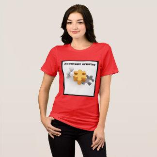 Hashtag Content Creator Women's Bella Jersey T-Shirt