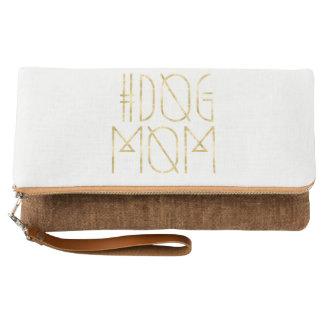 Hashtag Dog Mom Trendy Fold-Over Clutch