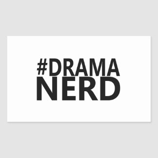 Hashtag Drama Nerd - Funny Shirt Actor Actress Sticker