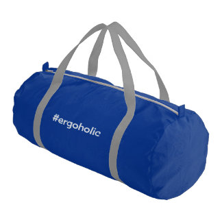 Hashtag ergoholic slogan rowing gym bag