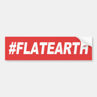 Hashtag Flat Earth Bumper Sticker
