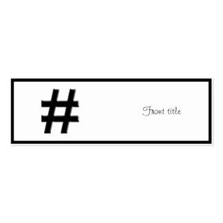 #HASHTAG - Hash Tag Symbol Mini Business Card