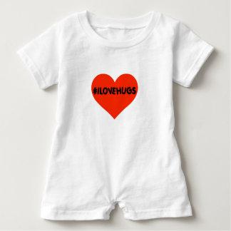 Hashtag I Love Hugs Cute Baby Infant Heart Baby Romper