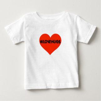Hashtag I Love Hugs Cute Baby Infant Heart Baby T-Shirt