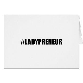 Hashtag Lady Entrepreneur Card