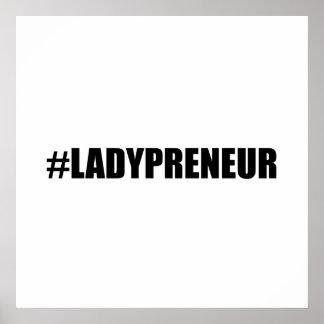 Hashtag Lady Entrepreneur Poster