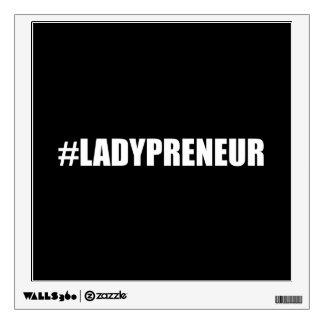 Hashtag Lady Entrepreneur Wall Sticker