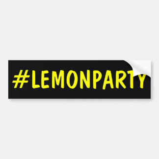 Hashtag Lemon Party Bumper Sticker