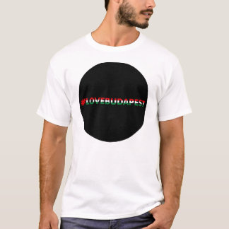 hashtag love Budapest, black circle T-Shirt
