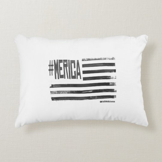 Hashtag 'Merica Flag Accent Pillow