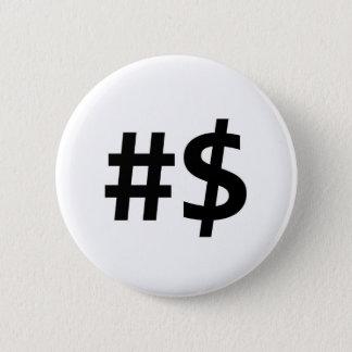 hashtag money 2 inch round button